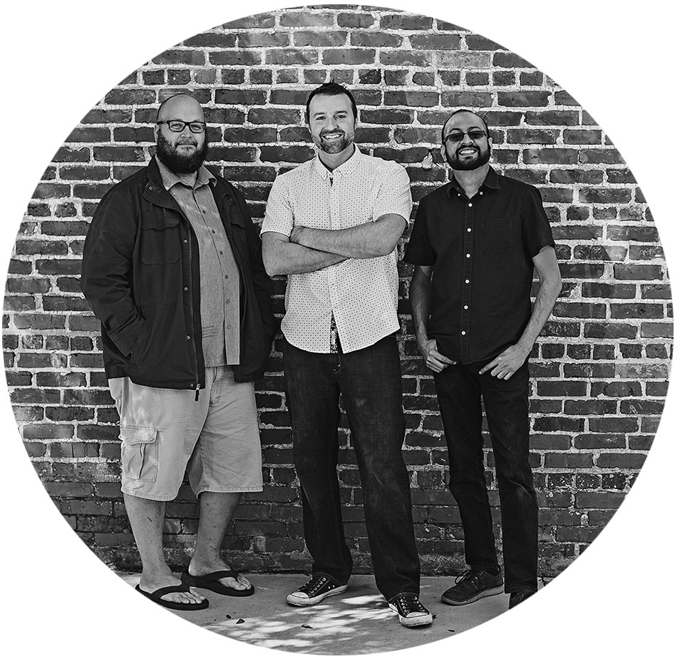 Steamroller Studios owners Adam Meyer, Keith Lackey, and Jalil Sadool